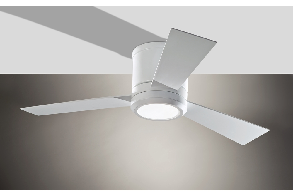 Thirty Six Light White Hugger Ceiling Fan : 3CLYR42RZWD | Lighting ...