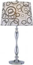Lite Source Inc. LS-21591 - Table Lamp, Chrome/printed Fabric Shade, E27 Type A 150w
