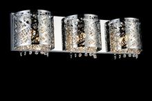 Crystal World 5008W25ST-R-3 - 3 Light Chrome Vanity Light from our Eternity collection