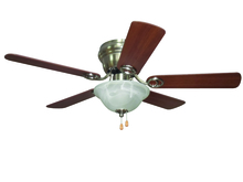 "Ellington Fan WC42BNK5C1 - Wyman with Bowl Light Kit 42"" Ceiling Fan with Blades and Light in Brushed Polished Nickel"