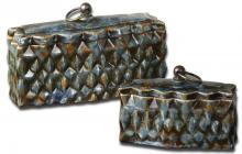 Uttermost 19618 - Uttermost Neelab Ceramic Containers, Set/2