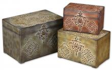 Uttermost 20394 - Uttermost Hobnail Weathered Boxes, Set/3