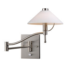 ELK Lighting 10112/1 - Swingarms 1 Light Swingarm Wall Sconce In Satin