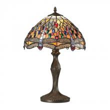ELK Lighting 72078-1 - Dragonfly Tiffany Glass Table Lamp in Tiffany Br