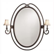 Kalco 810B/8030 - Santa Barbara 2 Light Oval Mirror