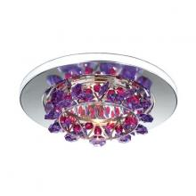 Schonbek VCR431TRA - Vertex 1 Light 12V Recessed in Stainless Steel with Travertine Crystals From Swarovski