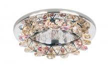 Schonbek VCR451BLA - Vertex 1 Light 12V Recessed in Stainless Steel with Black Diamond Crystals From Swarovski