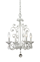 Z-Lite 419WH - 4 Light Mini Chandelier