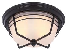 Westinghouse 6230300 - 2 Light Flush Weathered Bronze Finish with Frosted Glass