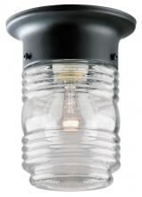 Westinghouse 6691900 - 1 Light Flush Matte Black Finish with Clear Glass