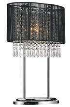 Crystal World 5004T13C(B) - 1 Light Chrome Table Lamp from our Sheer collection