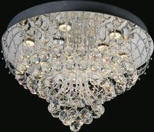 Crystal World 5050C16C - 4 Light Chrome Flush Mount from our Fountain collection