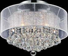 Crystal World 5062C20C (Clear + W) - 9 Light Chrome Drum Shade Flush Mount from our Radiant collection