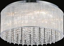 Crystal World 5319C20C-R - 8 Light Chrome Drum Shade Flush Mount from our Spring Morning collection