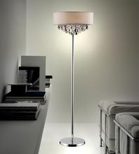 Crystal World 5443F16C (Off White) - 4 Light Floor Lamp with Chrome finish
