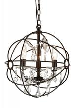 Crystal World 5465P13-DB-3 - 3 Light Brown Up Mini Chandelier from our Bird Cage collection