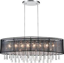 Crystal World 5519P36C-O (Black) - 8 Light Drum Shade Chandelier with Chrome finish