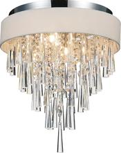 Crystal World 5523C16C (Off White) - 4 Light Chrome Drum Shade Flush Mount from our Franca collection