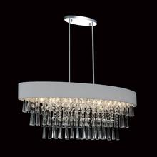 Crystal World 5523P38C-O (Silver) - 8 Light Drum Shade Chandelier with Chrome finish