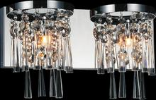 Crystal World 5524W16C-2 - 2 Light Chrome Vanity Light from our Blissful collection