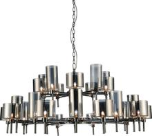 Crystal World 5526P48-30-612 - 30 Light Pearl Black Up Chandelier from our Montoya collection