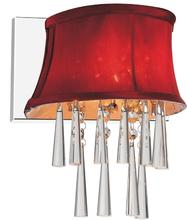 Crystal World 5532W9C-1 (Rose Red) - 1 Light Chrome Bathroom Sconce from our Audrey collection