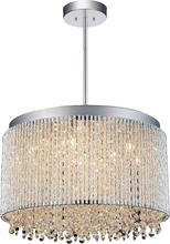 Crystal World 5535P16C-R - 10 Light Chrome Drum Shade Chandelier from our Claire collection