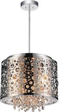 Crystal World 5536P12ST - 4 Light Drum Shade Mini Pendant with Chrome finish