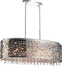 Crystal World 5536P30ST-O - 11 Light Chrome Drum Shade Chandelier from our Bubbles collection