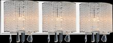 Crystal World 5562W25C-3 Clear - 3 Light Chrome Vanity Light from our Benson collection