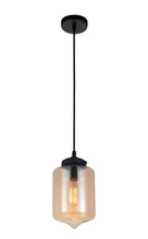 Crystal World 5570P7C - Amber - 1 Light Down Mini Pendant with Transparent Amber finish