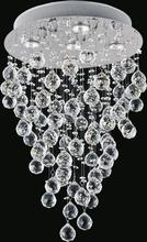 Crystal World 6601C16C - 5 Light Chrome Flush Mount from our Rain Drop collection