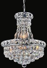 Crystal World 8002P12C - 4 Light Chrome Mini Chandelier from our Luminous collection