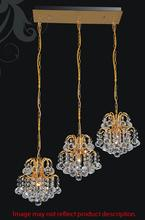 Crystal World 8015P20C-RC - 3 Light Chrome Multi Light Pendant from our Blossom collection