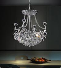 Crystal World 8041P10C-S - 4 Light Chrome Mini Chandelier from our Jasmine collection