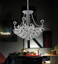 Crystal World 8041P12C-S - 4 Light Chrome Mini Chandelier from our Jasmine collection