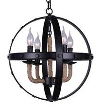 Crystal World 9703P16-4-101 - 4 Light Black Up Chandelier from our Surma collection