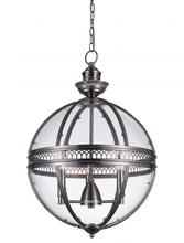 Crystal World 9714P17-3-606 - 3 Light Satin Nickel Up Chandelier from our Lune collection
