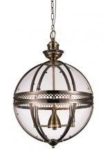 Crystal World 9714P17-3-616 - 3 Light Bronze Up Chandelier from our Lune collection