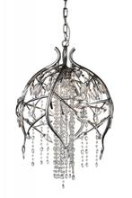 Crystal World 9842P19-6-184 - 6 Light Speckled Nickel Down Chandelier from our Mackay collection