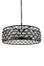Crystal World 9862P32-8-101 - 8 Light  Chandelier with Black finish