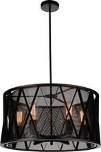 Crystal World 9889P20-4-101 - 4 Light Black Up Chandelier from our Tapedia collection