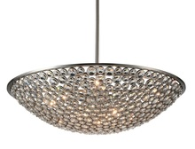 Crystal World 9908P36-10-606 - 10 Light Satin Nickel Chandelier from our Wallula collection
