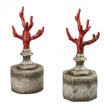 Sterling Industries 93-19320/S2 - Fire Coral Keepsake Boxes
