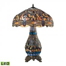 Dimond 72079-3-LED - Dragonfly 3 Light LED Table Lamp In Dark Bronze