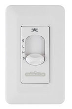 Fanimation CW3WH - Two Speed Wall Control Non-Reversing - Fan Speed and Light - White